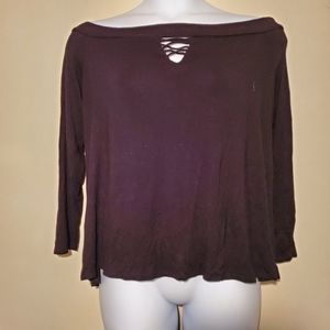 Lane Bryant OffShoulder Long-Sleeve Top Size 18/20
